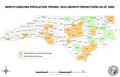 NorthCarolinaPopulationtrends2009